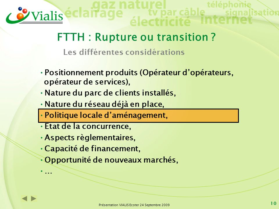 FTTH : Rupture ou transition