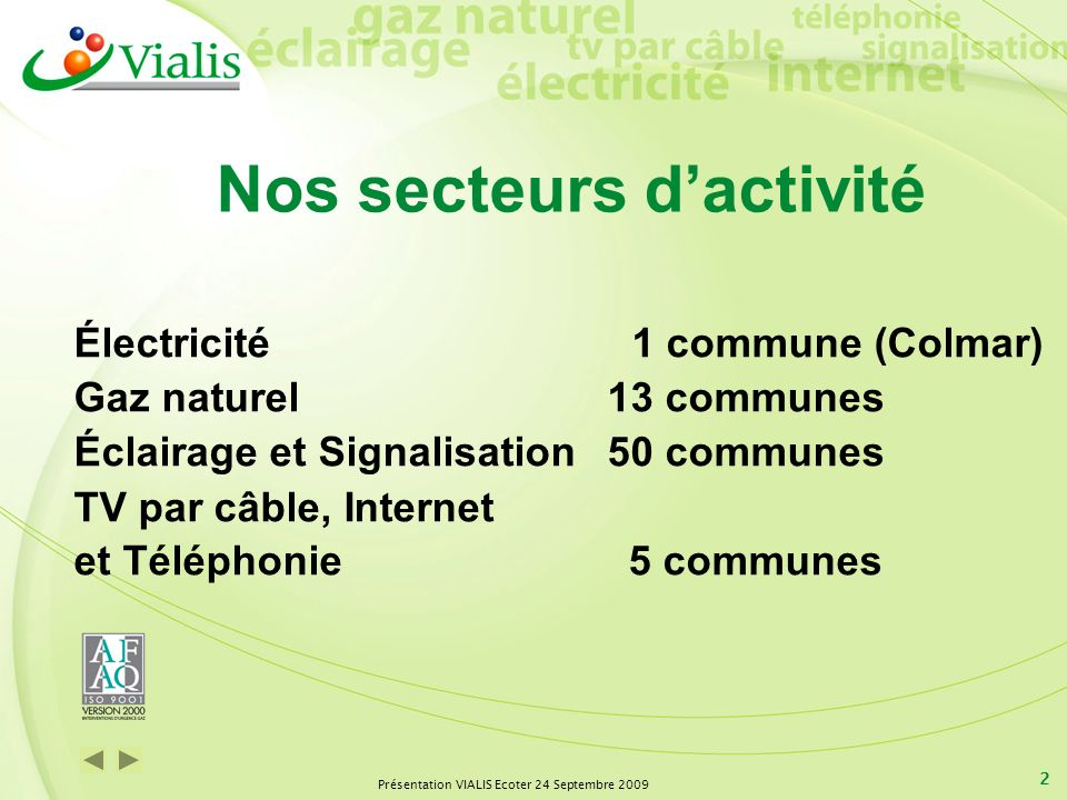 Nos secteurs d'activité