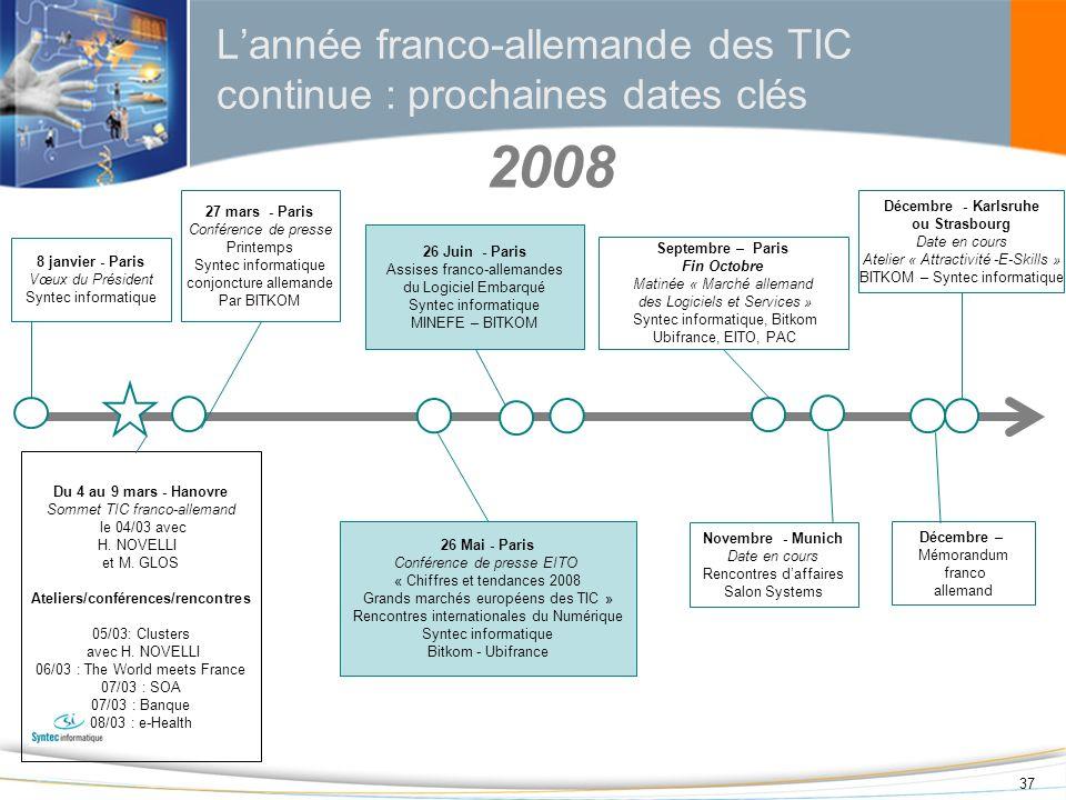 L'année franco-allemande des TIC continue : prochaines dates clés