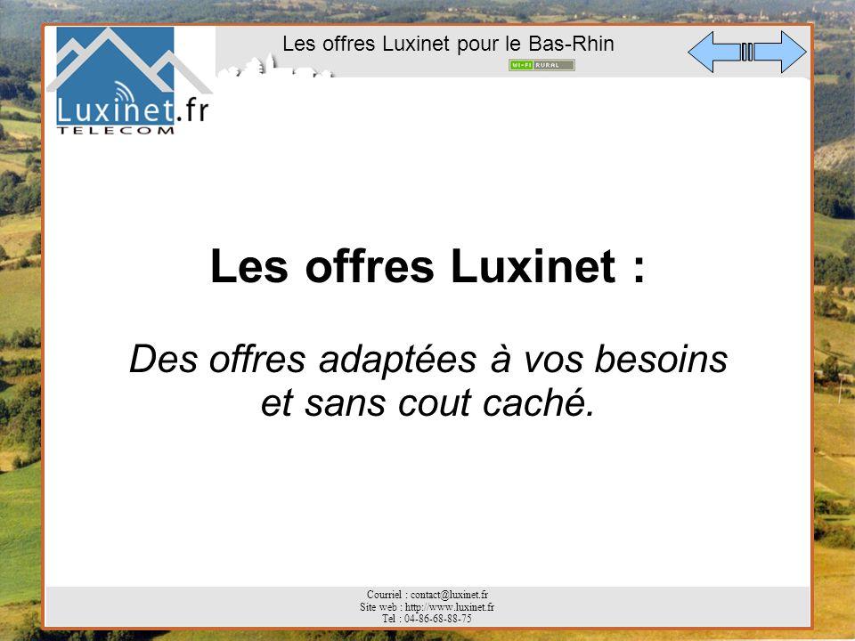 Les offres Luxinet : Des offres adaptées à vos besoins et sans cout caché.