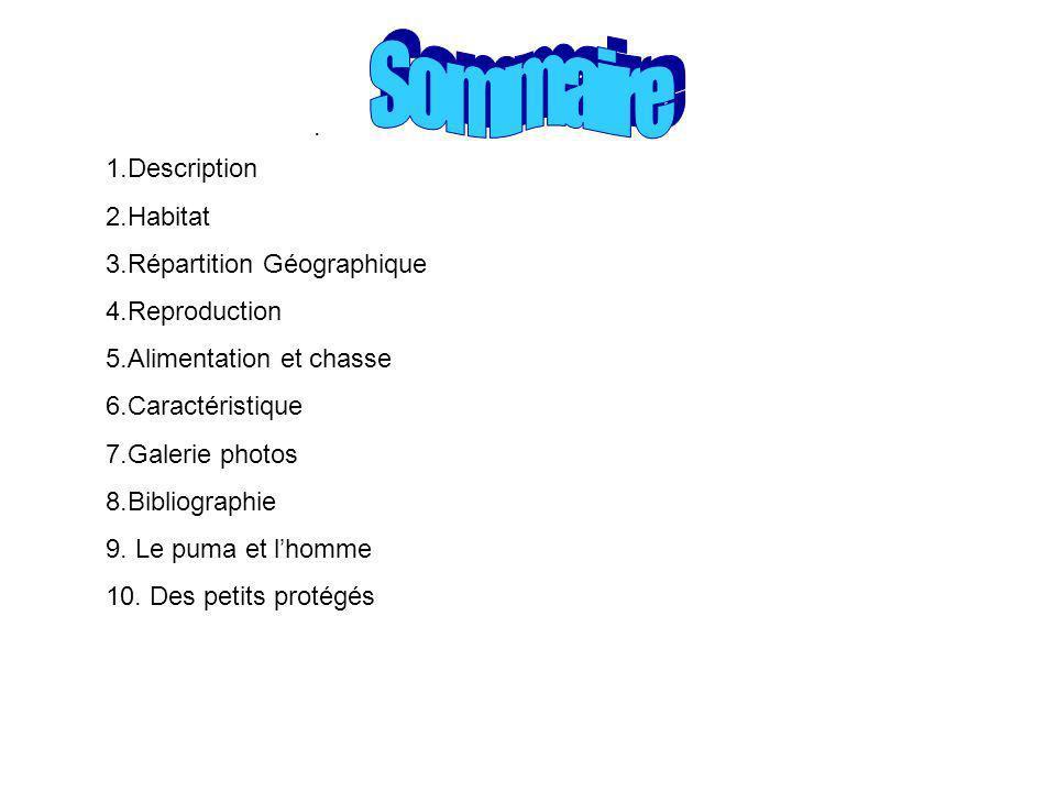 Sommaire . 1.Description 2.Habitat 3.Répartition Géographique
