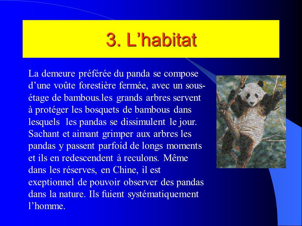 3. L'habitat