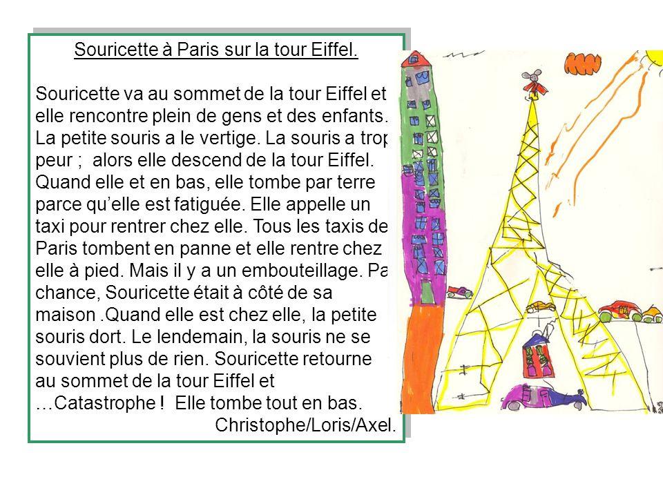 Souricette à Paris sur la tour Eiffel.