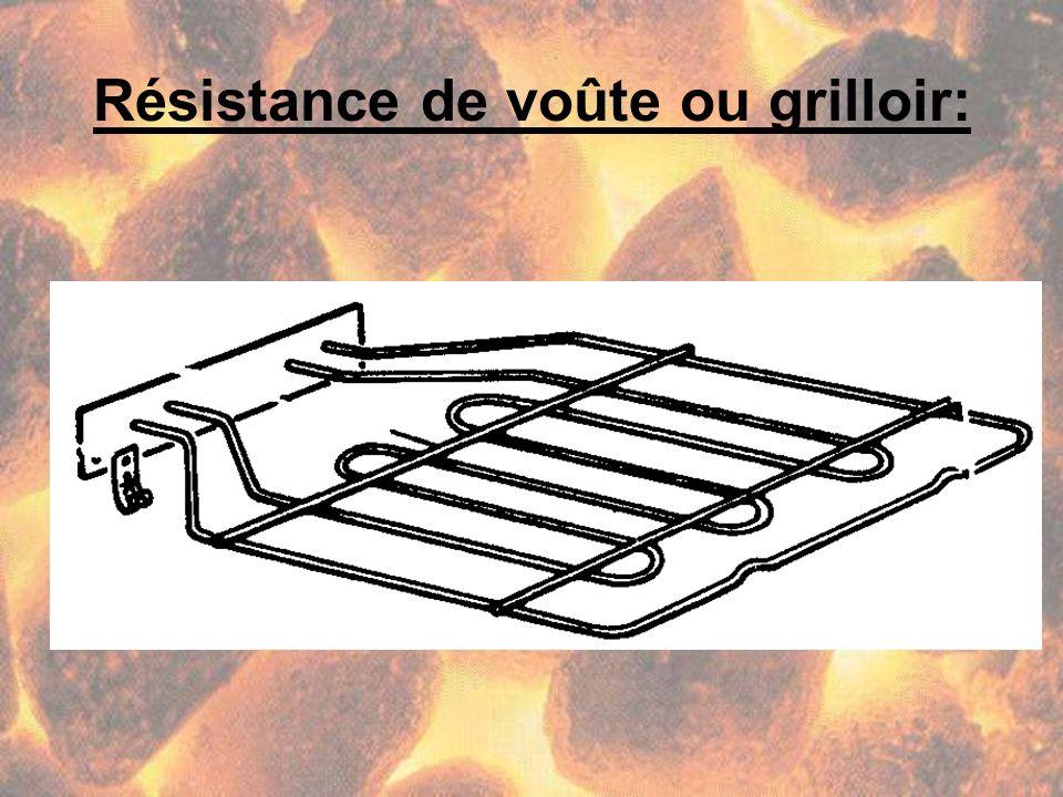 Résistance de voûte ou grilloir: