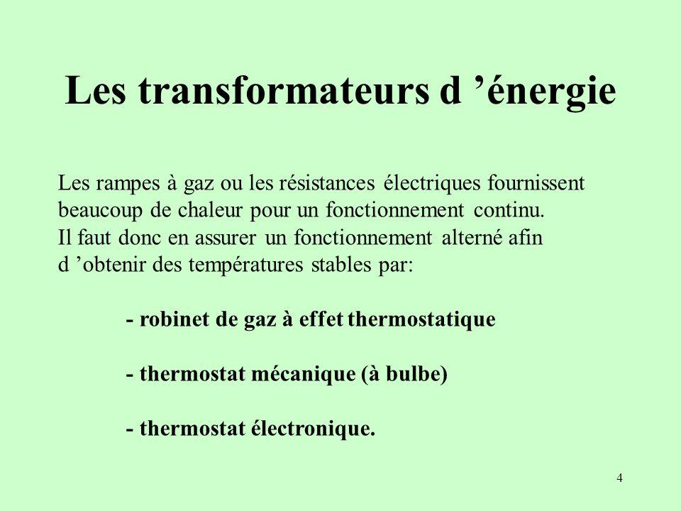 Les transformateurs d 'énergie