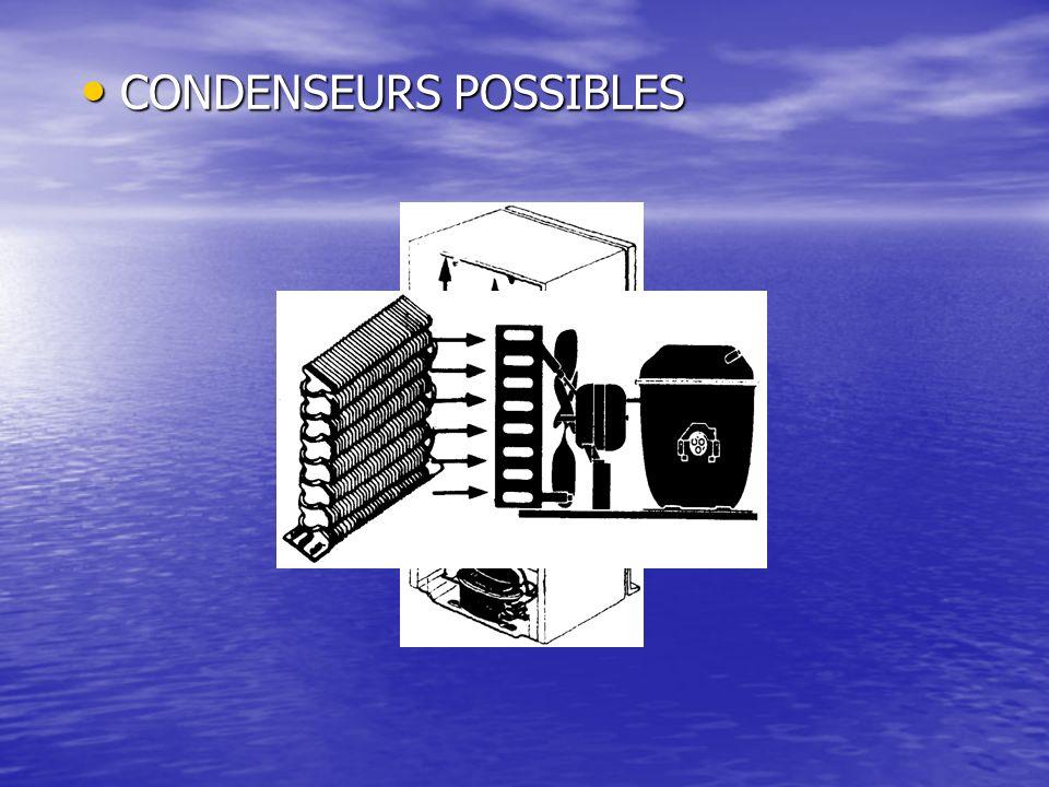 CONDENSEURS POSSIBLES