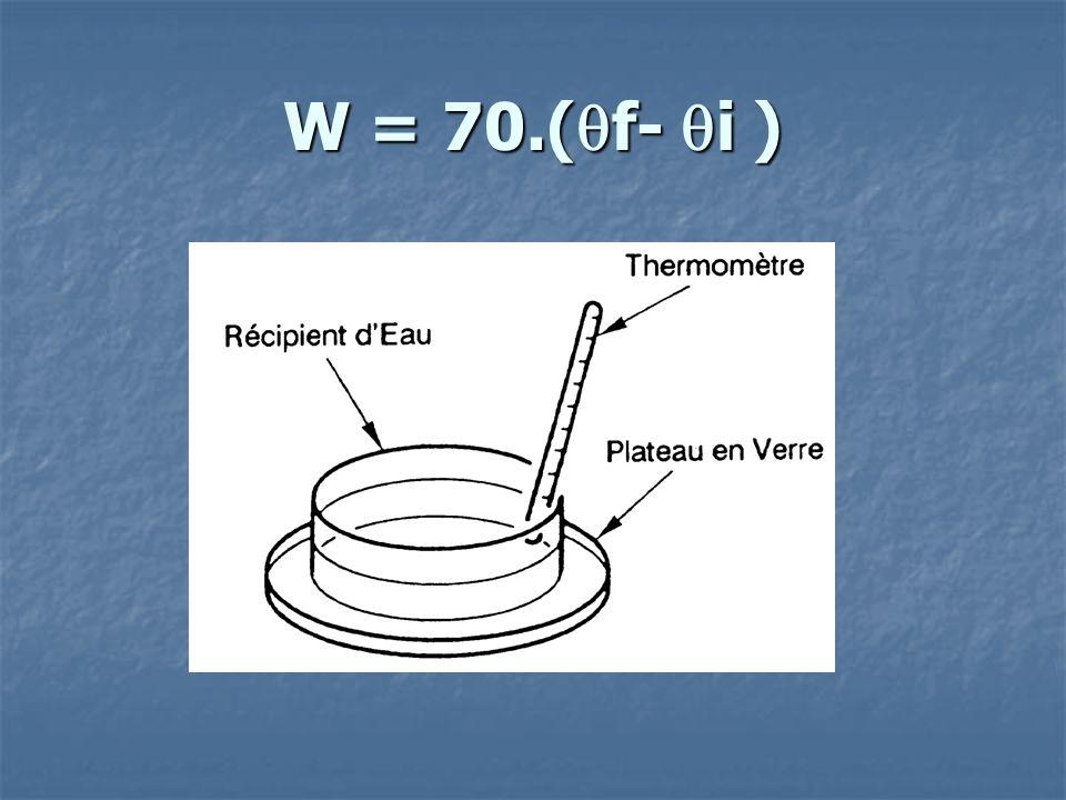 W = 70.(f- i )