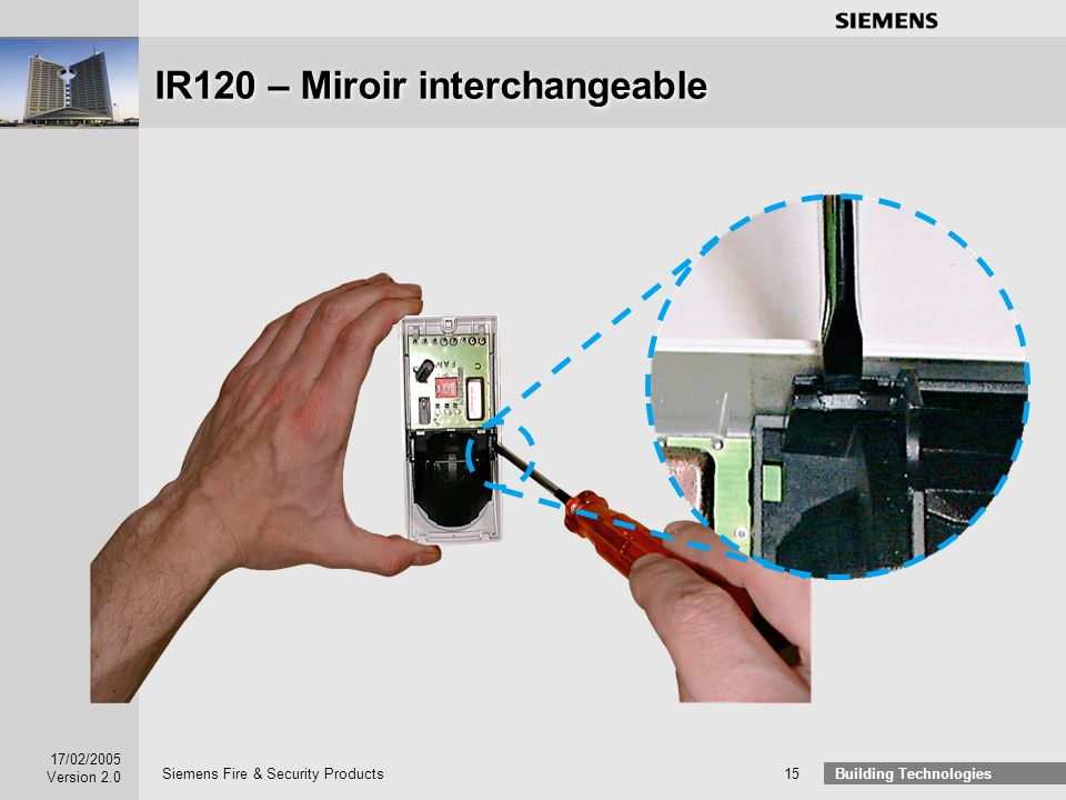 IR120 – Miroir interchangeable