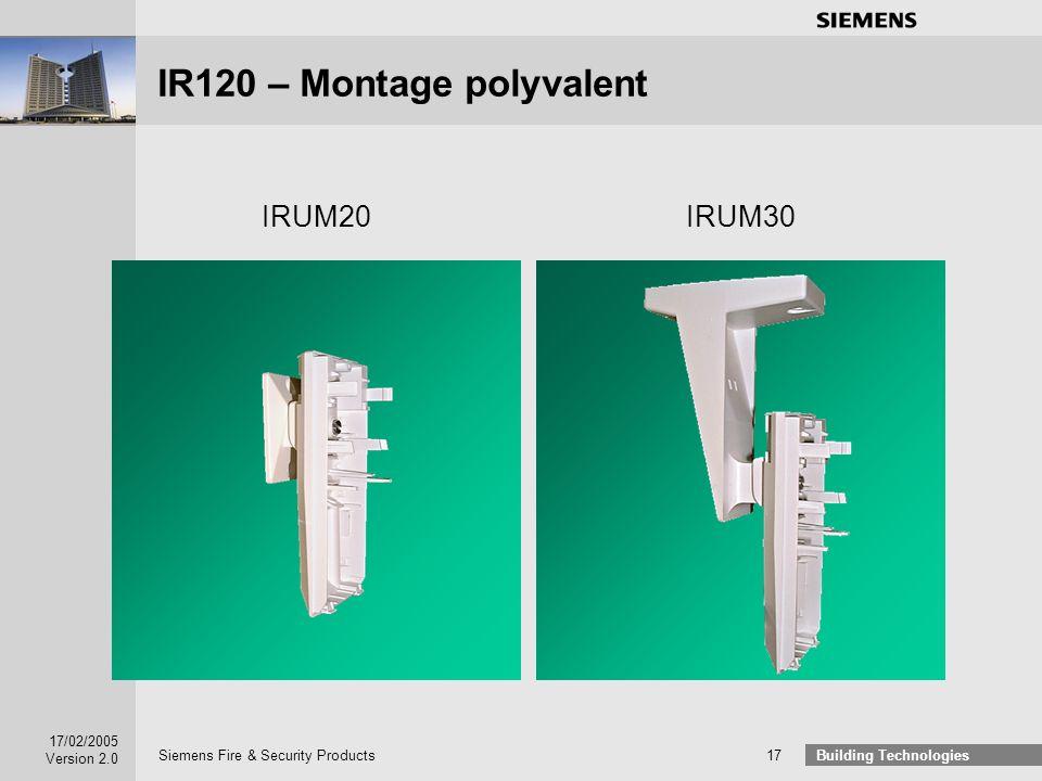 IR120 – Montage polyvalent
