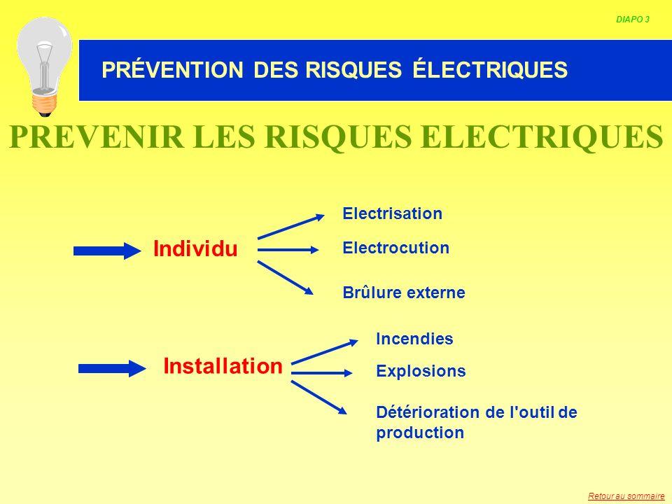 PREVENIR LES RISQUES ELECTRIQUES