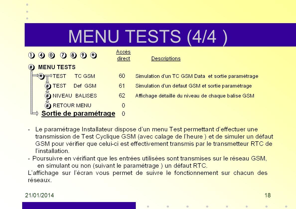 MENU TESTS (4/4 ) 26/03/2017