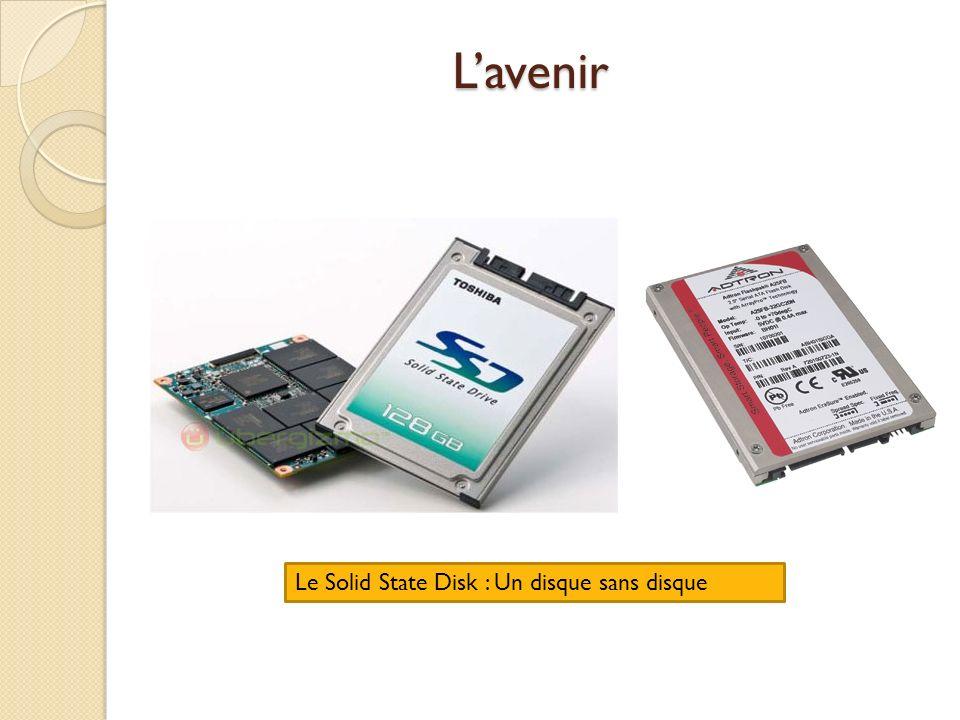 L'avenir Le Solid State Disk : Un disque sans disque