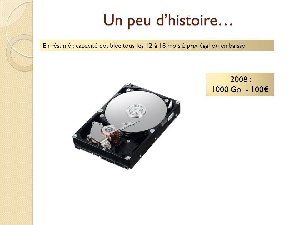 Un peu d'histoire… 2008 : 1000 Go - 100€