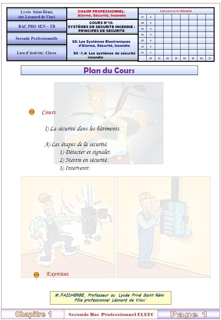 Chapitre 1 Page 1 Plan du Cours Cours