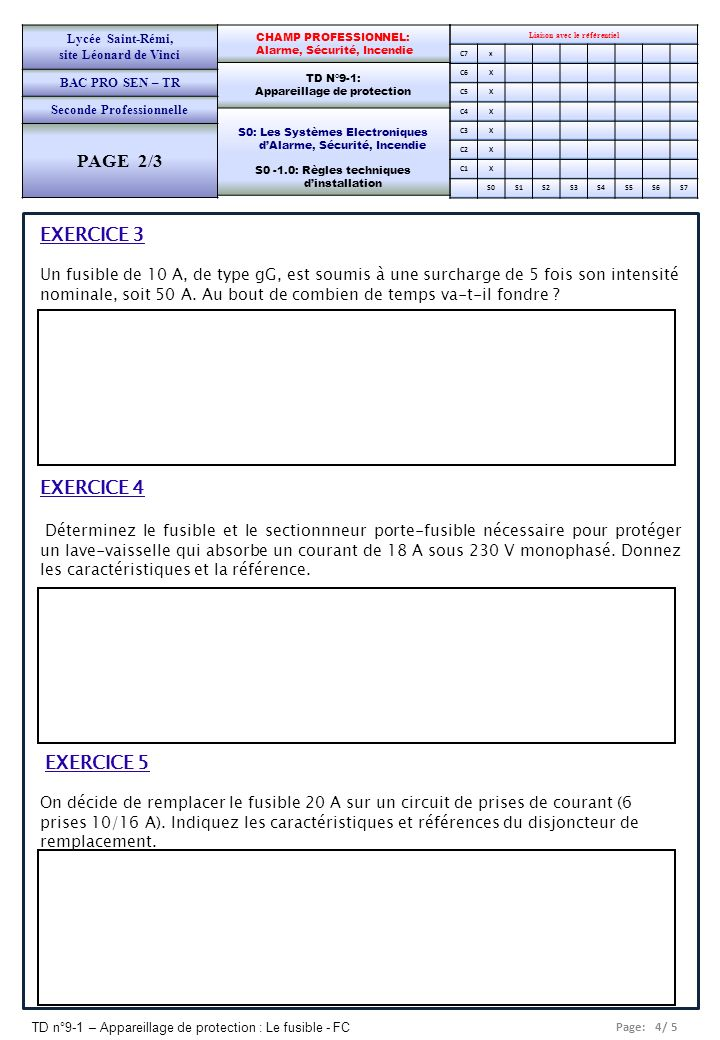 PAGE 2/3 EXERCICE 3 EXERCICE 4