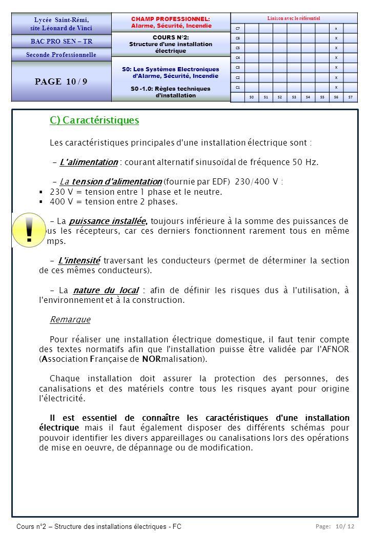 PAGE 10 / 9 C) Caractéristiques