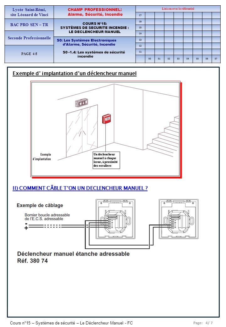 Exemple d' implantation d'un déclencheur manuel