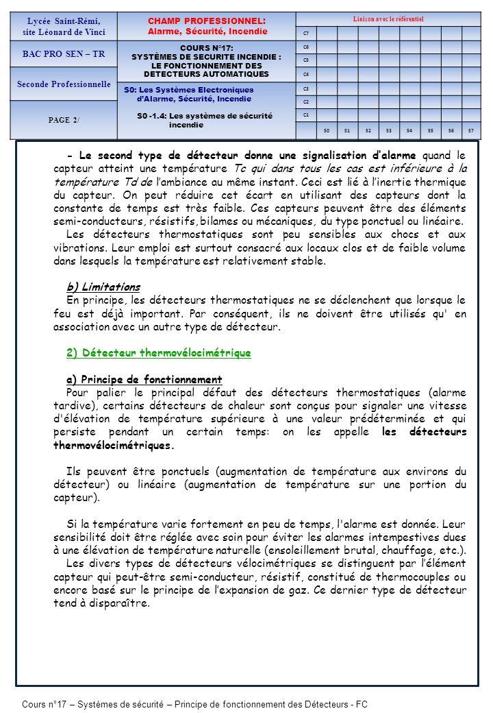 2) Détecteur thermovélocimétrique a) Principe de fonctionnement