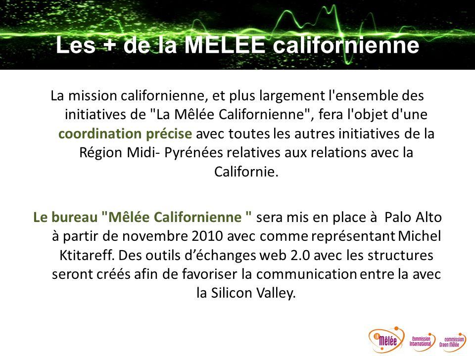 Les + de la MELEE californienne