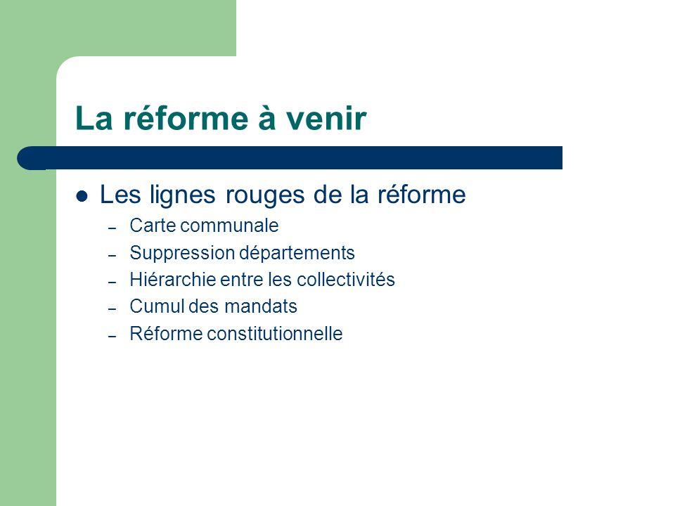 La réforme à venir Les lignes rouges de la réforme Carte communale