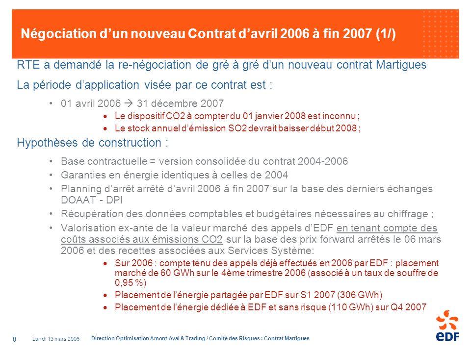Négociation d'un nouveau Contrat d'avril 2006 à fin 2007 (1/)