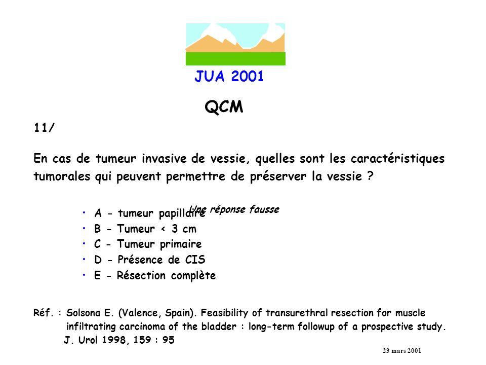En cas de tumeur invasive de vessie, quelles sont les caractéristiques