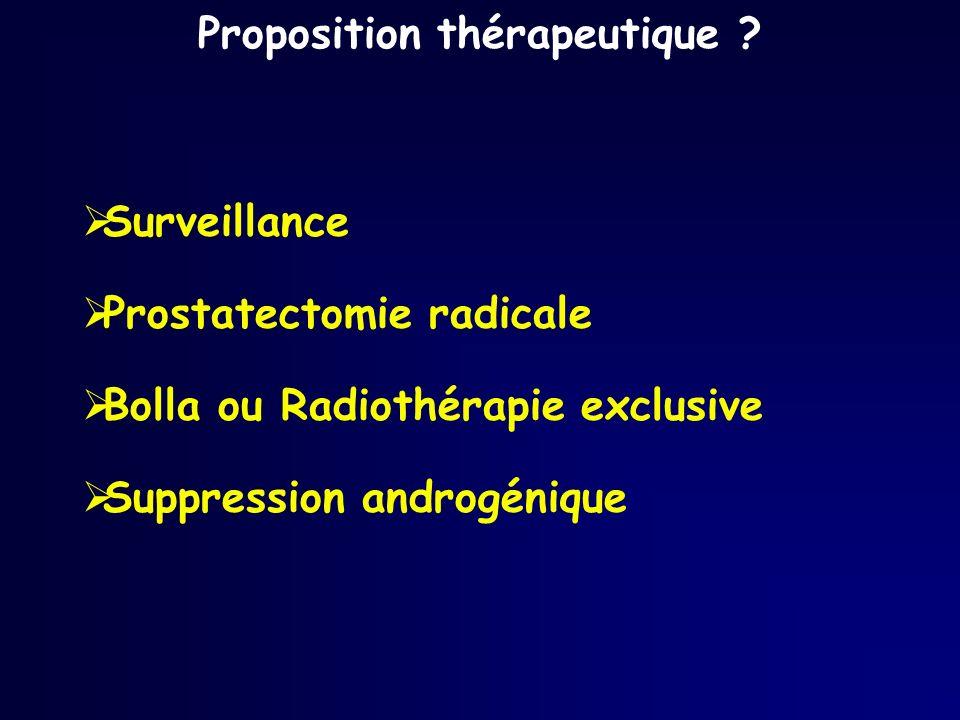 Proposition thérapeutique