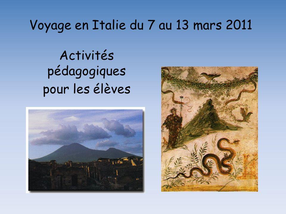 Voyage en Italie du 7 au 13 mars 2011