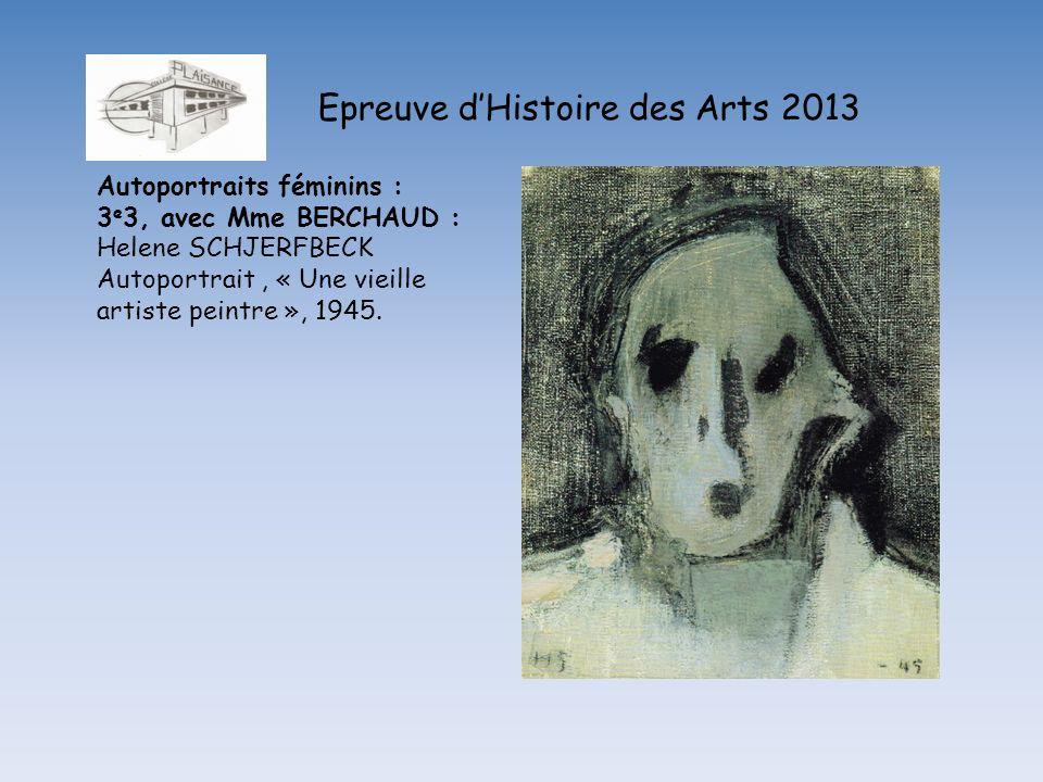 Epreuve d'Histoire des Arts 2013
