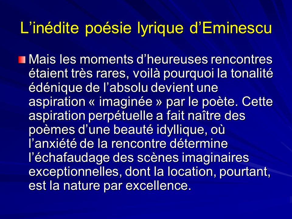 L'inédite poésie lyrique d'Eminescu