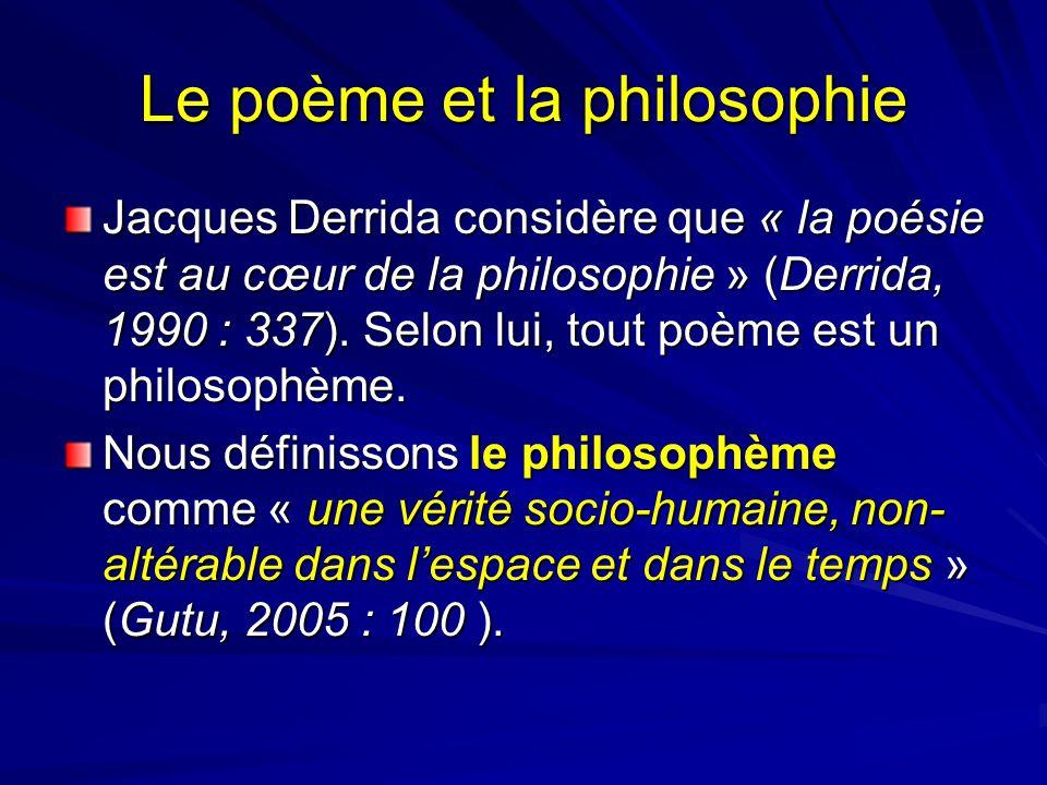 Le poème et la philosophie