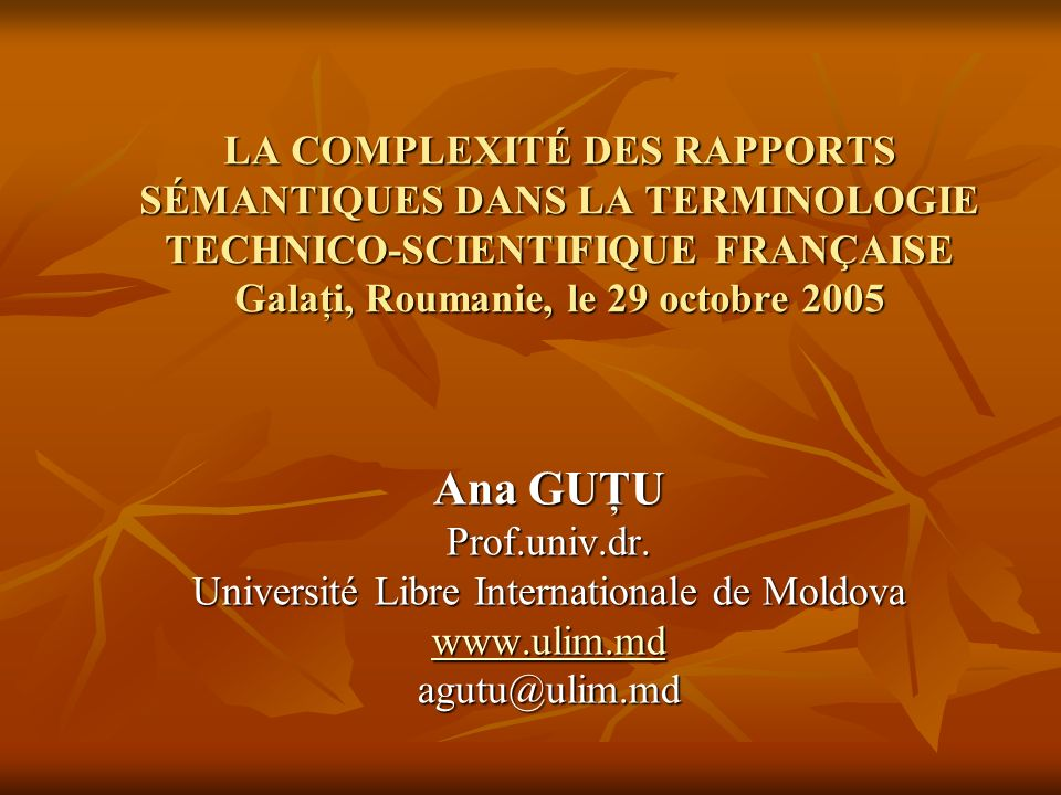 Université Libre Internationale de Moldova