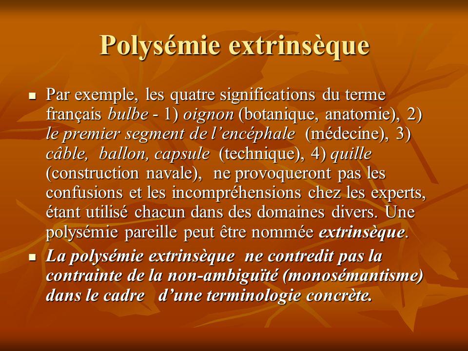 Polysémie extrinsèque