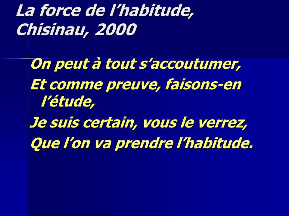 La force de l'habitude, Chisinau, 2000