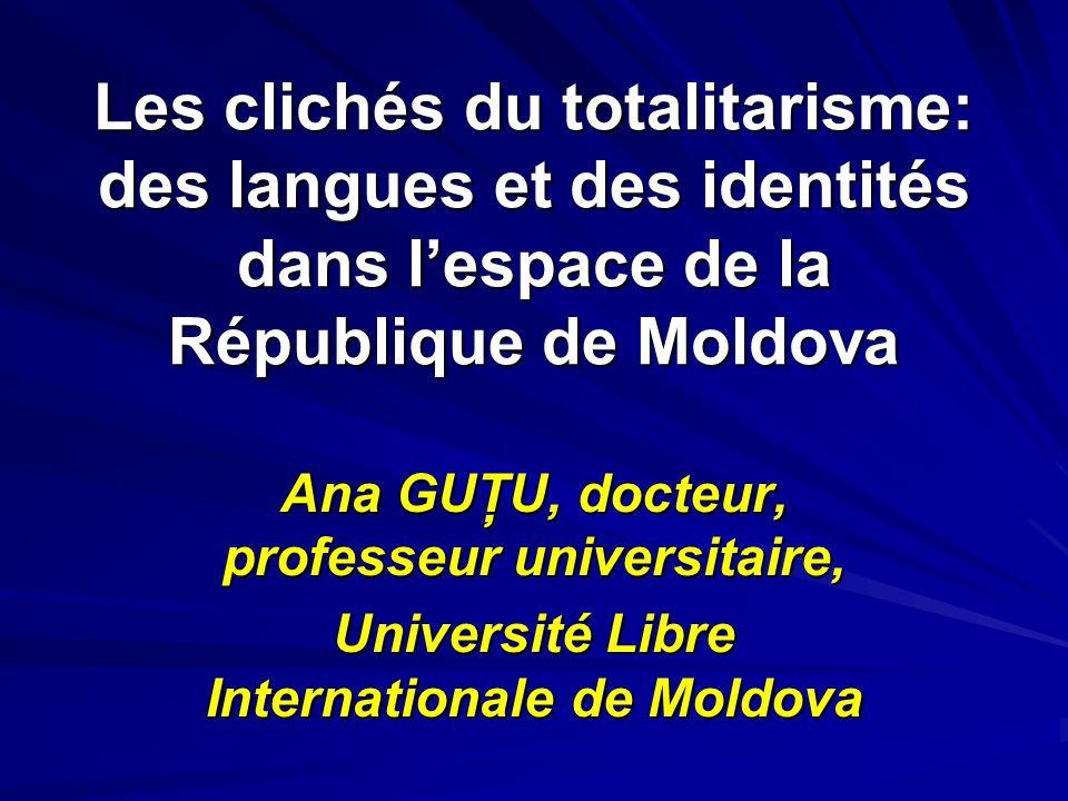 Ana GUŢU, docteur, professeur universitaire,
