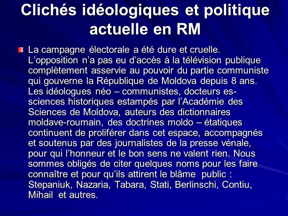 Clichés idéologiques et politique actuelle en RM