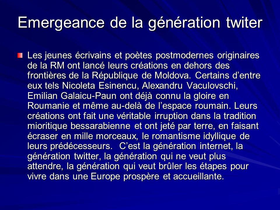 Emergeance de la génération twiter