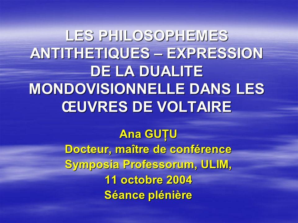 Docteur, maître de conférence Symposia Professorum, ULIM,