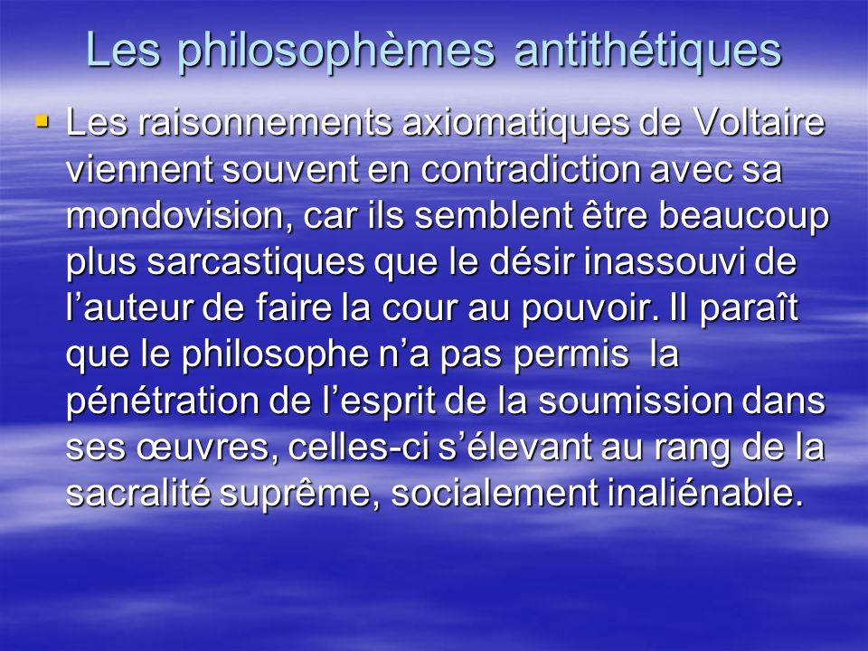 Les philosophèmes antithétiques