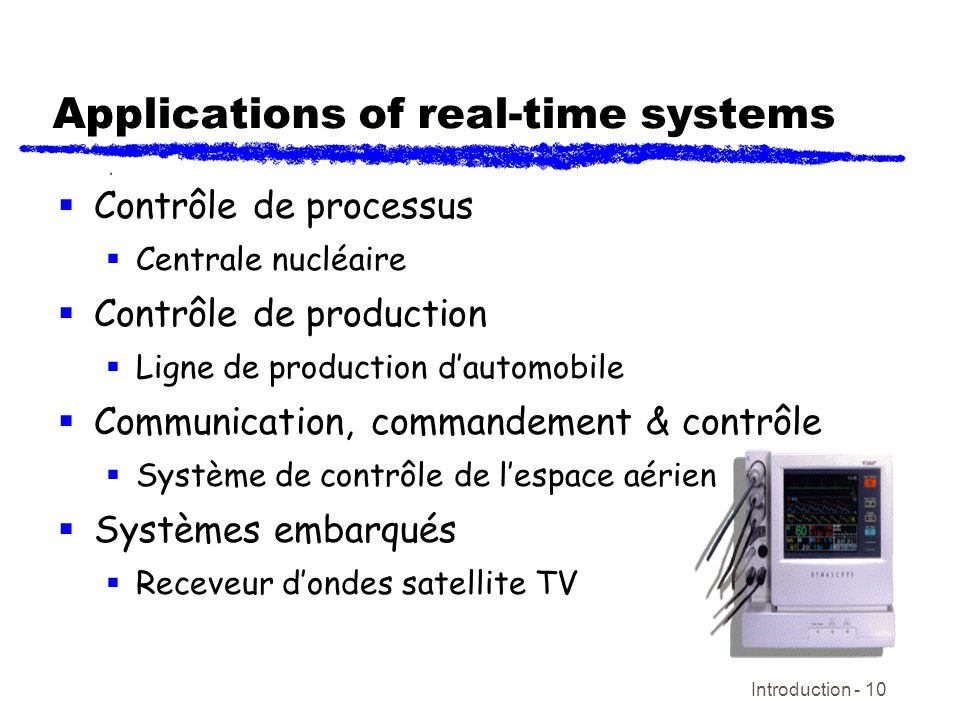 Applications of real-time systems