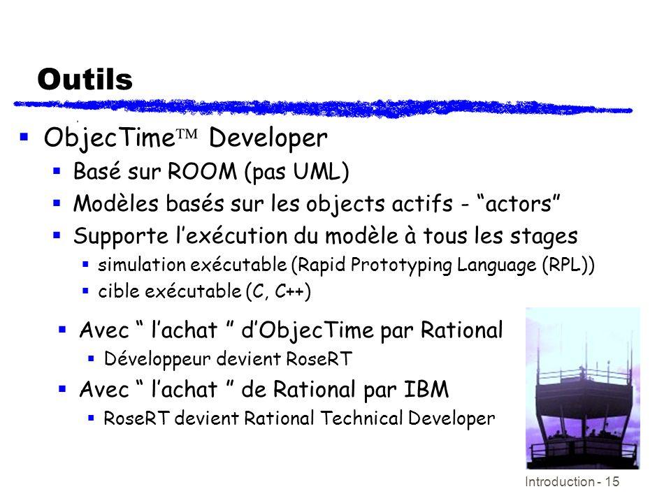 Outils ObjecTime Developer Basé sur ROOM (pas UML)