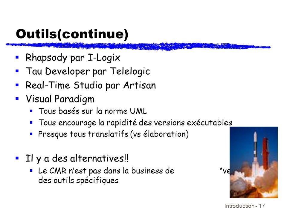 Outils(continue) Rhapsody par I-Logix Tau Developer par Telelogic
