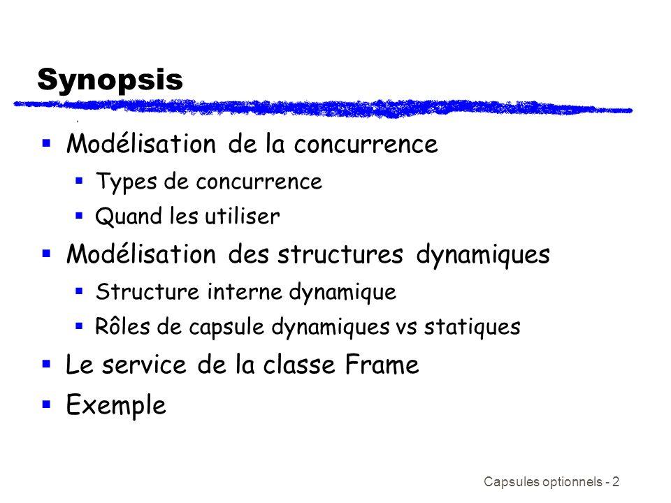 Synopsis Modélisation de la concurrence