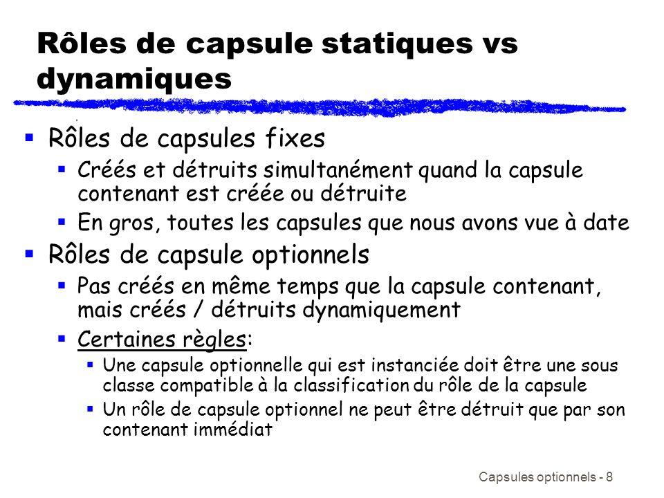 Rôles de capsule statiques vs dynamiques
