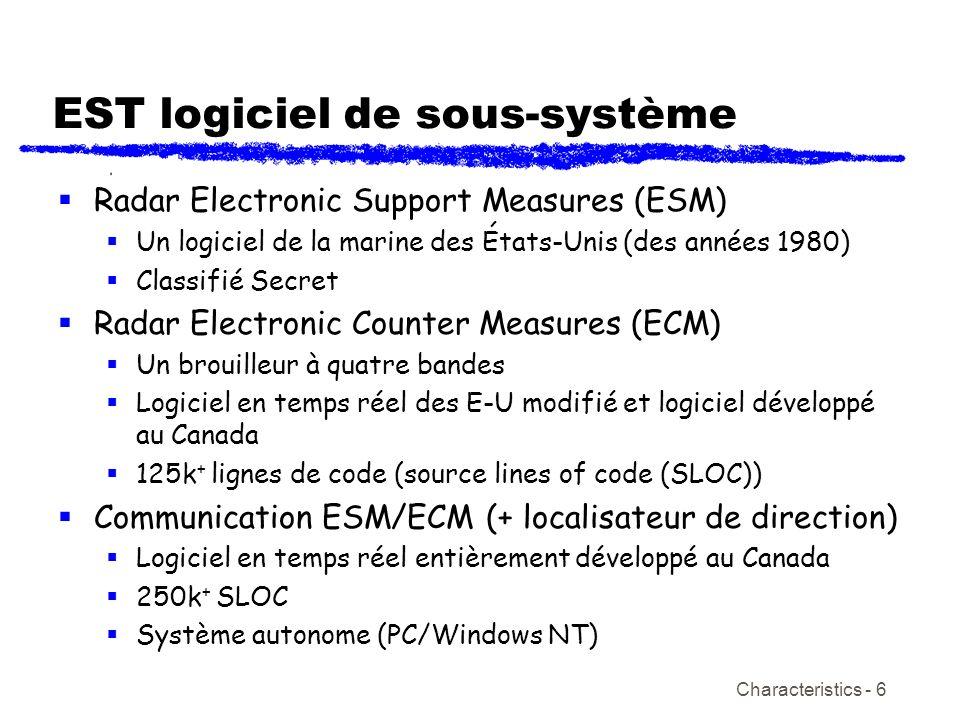 EST logiciel de sous-système