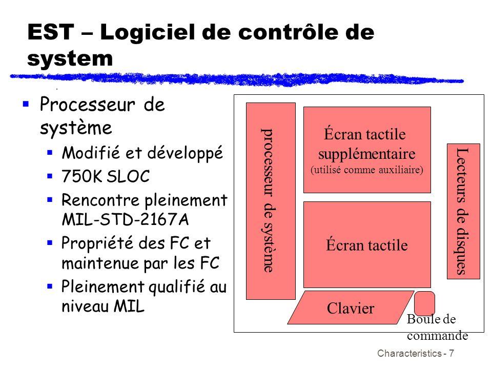 EST – Logiciel de contrôle de system