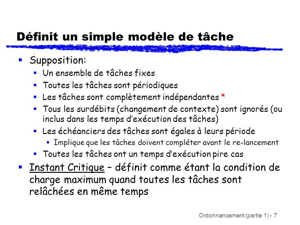 Définit un simple modèle de tâche