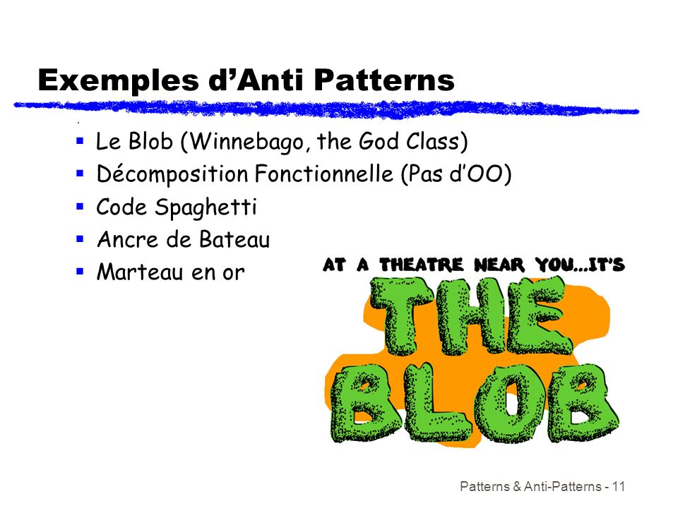 Exemples d'Anti Patterns