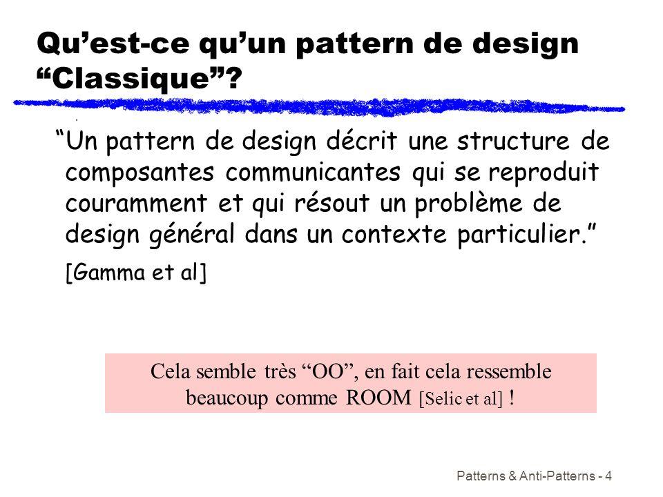 Qu'est-ce qu'un pattern de design Classique