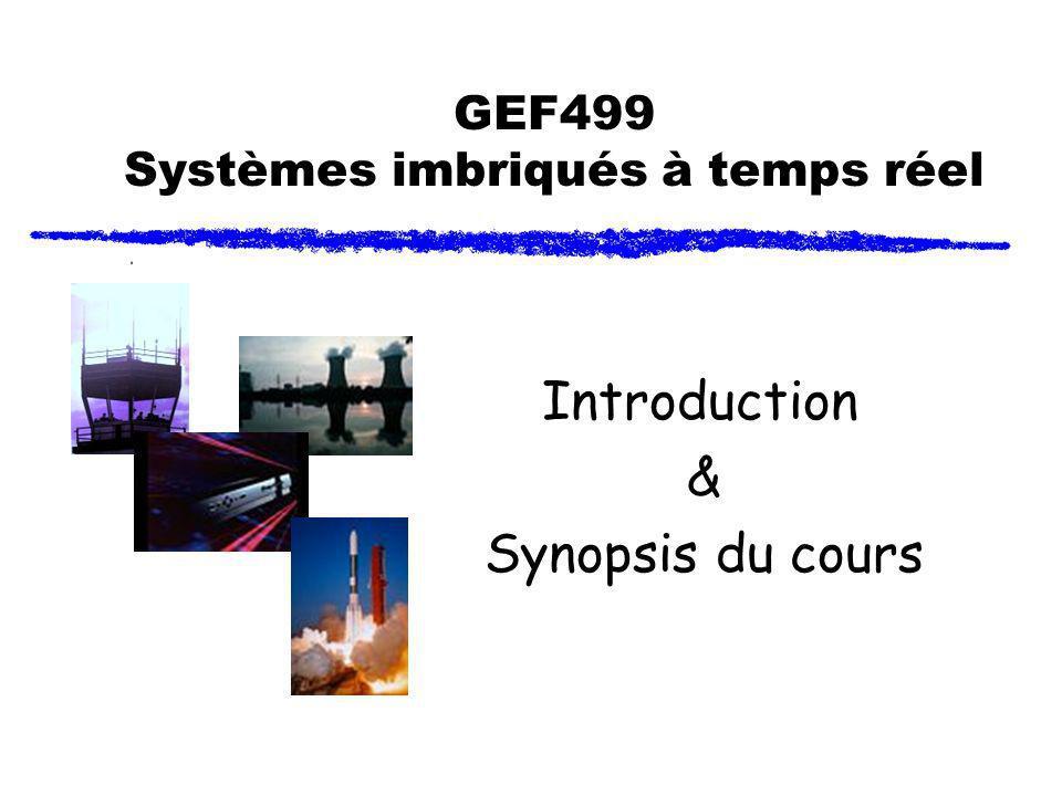GEF499 Systèmes imbriqués à temps réel